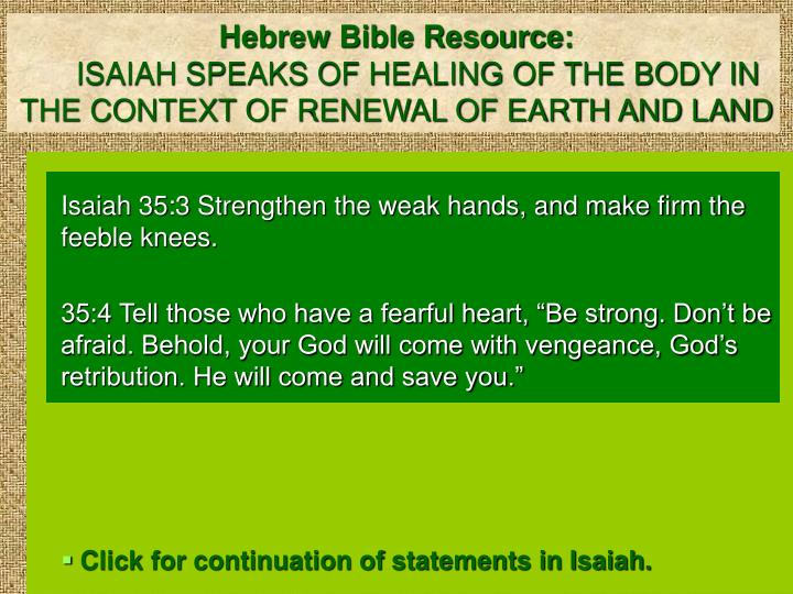 Hebrew Bible Resource:
