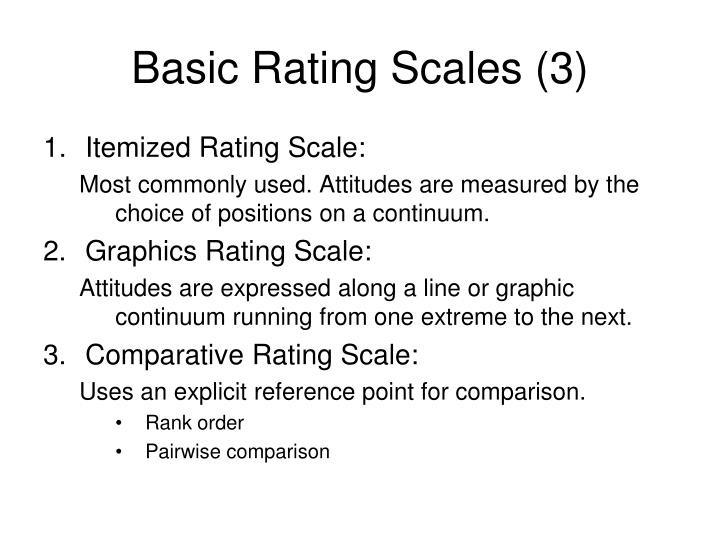 Basic Rating Scales (3)