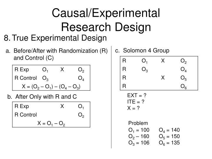 Causal/Experimental