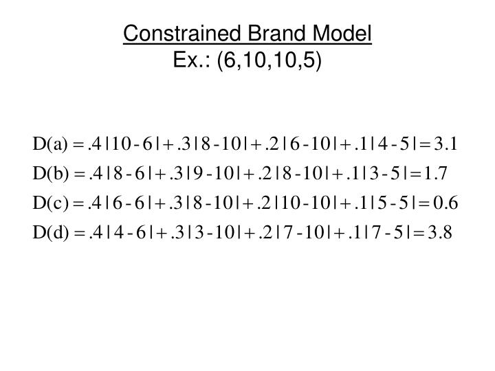 Constrained Brand Model