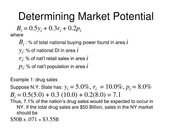 Determining Market Potential