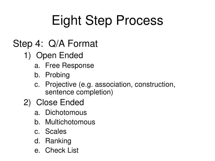 Eight Step Process