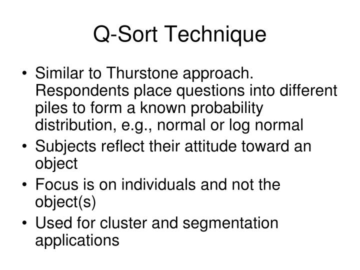 Q-Sort Technique