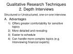 qualitative research techniques 2 depth interviews