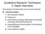 qualitative research techniques 2 depth interviews1