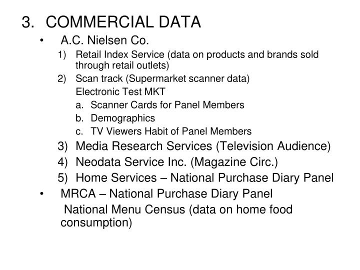 COMMERCIAL DATA