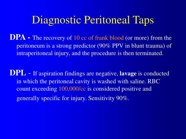 Diagnostic Peritoneal Taps
