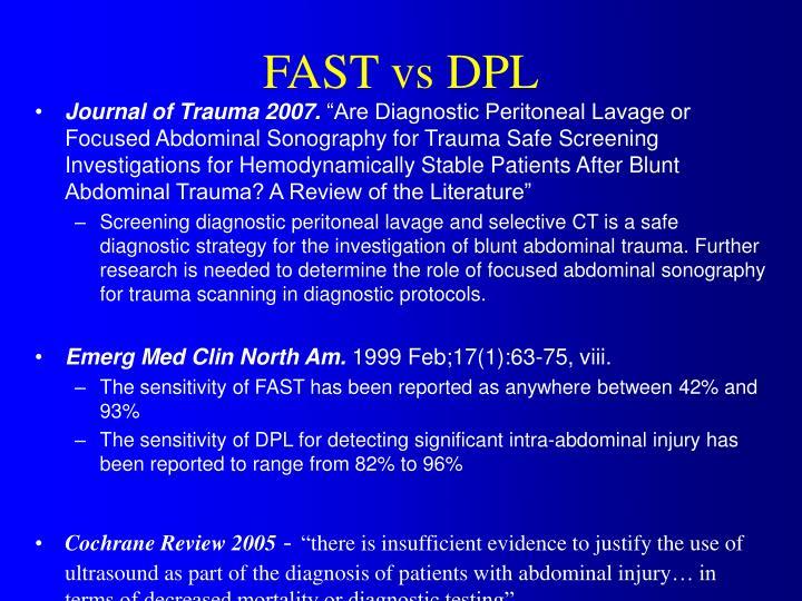 FAST vs DPL