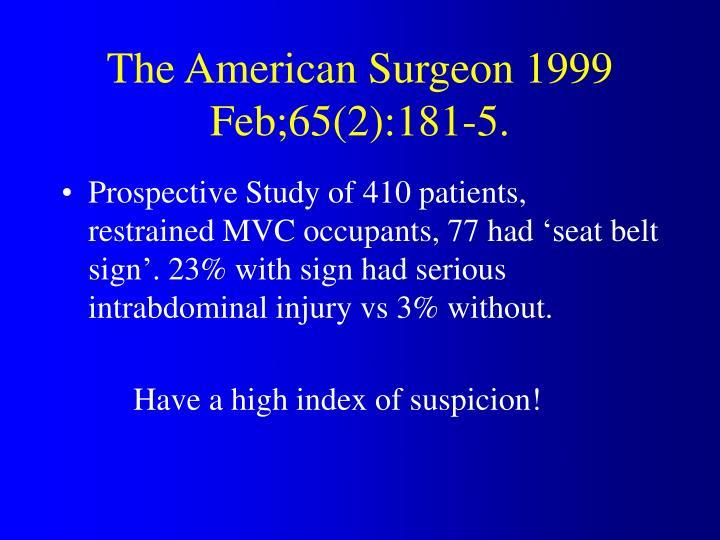 The American Surgeon 1999