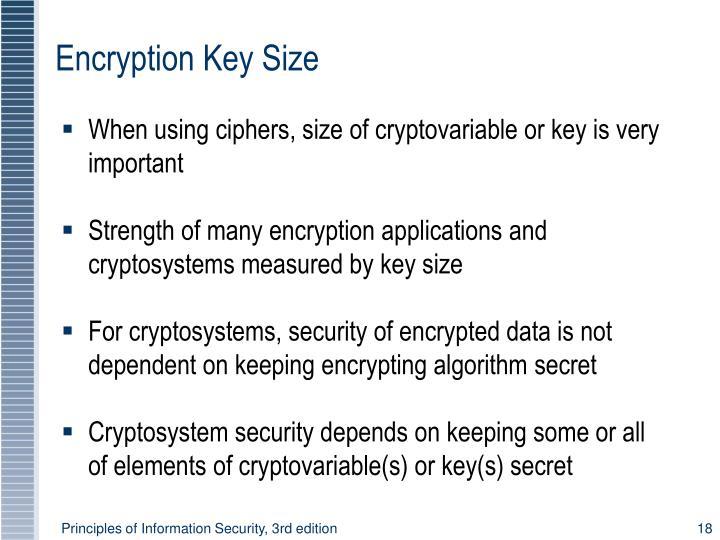 Encryption Key Size