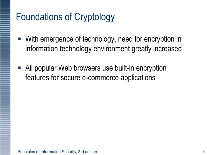 With emergence of technology, need for encryption in information technology environment greatly increased
