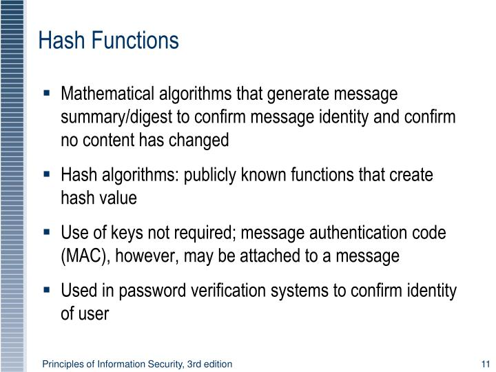Hash Functions