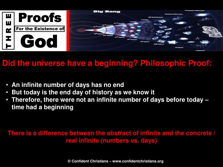 Did the universe have a beginning? Philosophic Proof:
