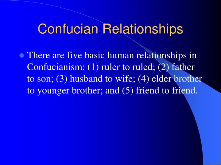 Confucian Relationships