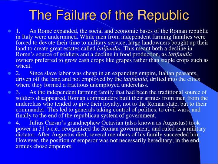 The Failure of the Republic