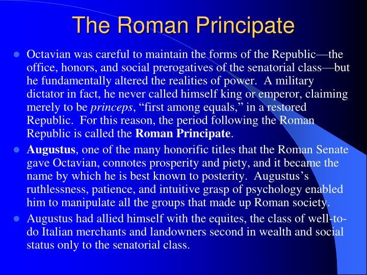 The Roman Principate