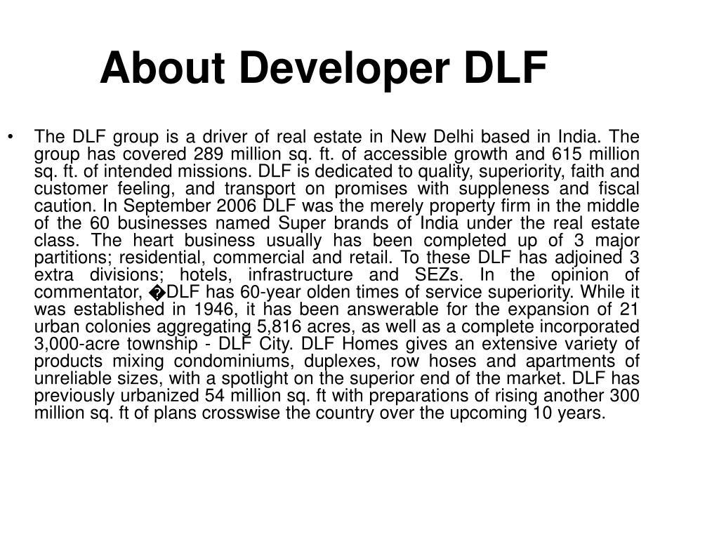 About Developer DLF