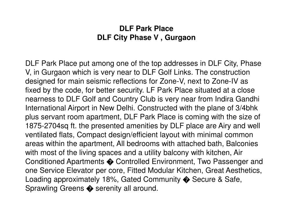DLF Park Place