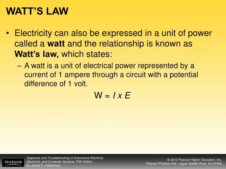 WATT'S LAW