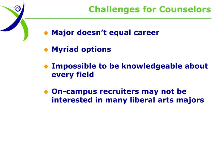Challenges for Counselors