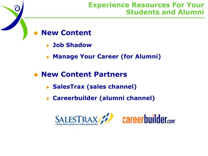Experience Resources For Your