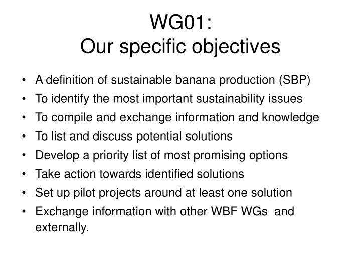 WG01: