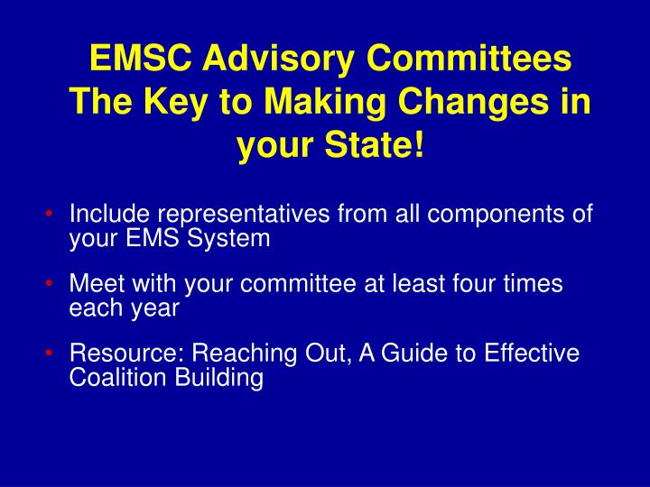 EMSC Advisory Committees
