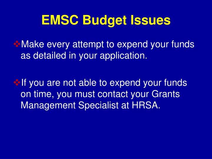 EMSC Budget Issues