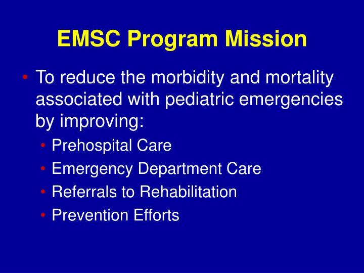 EMSC Program Mission