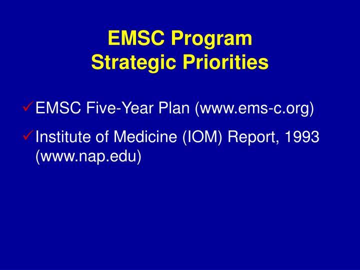 EMSC Program