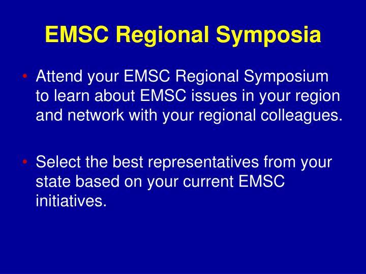 EMSC Regional Symposia