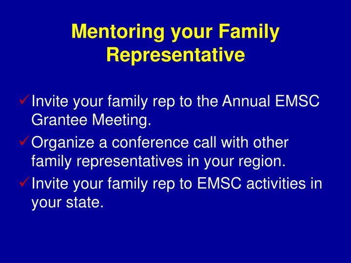 Mentoring your Family Representative