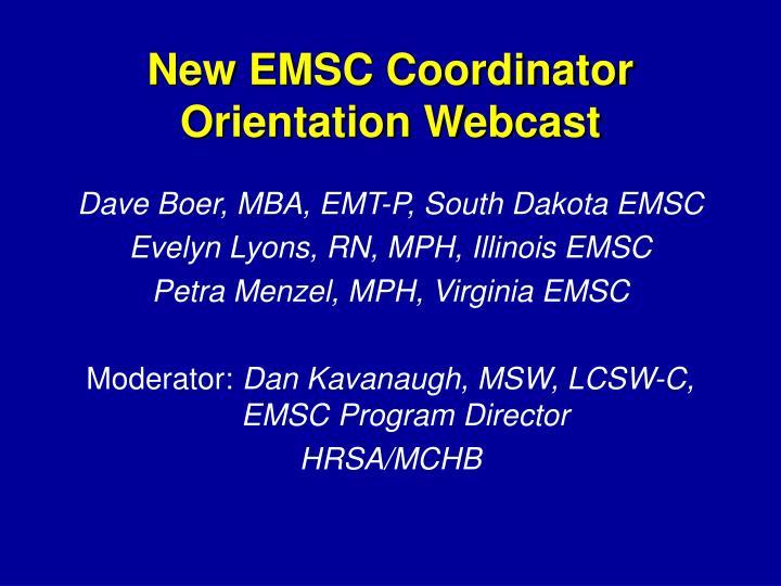 New EMSC Coordinator