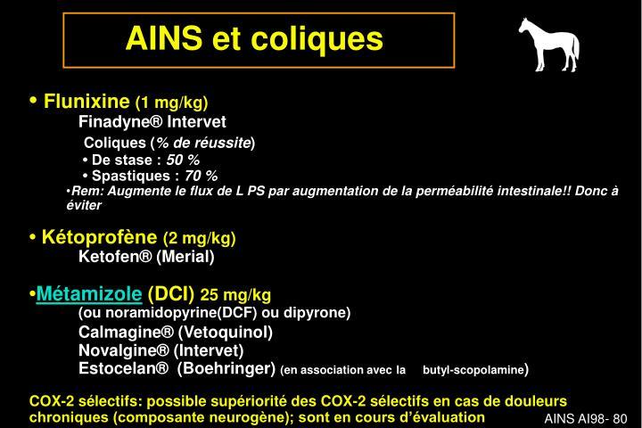 AINS et coliques