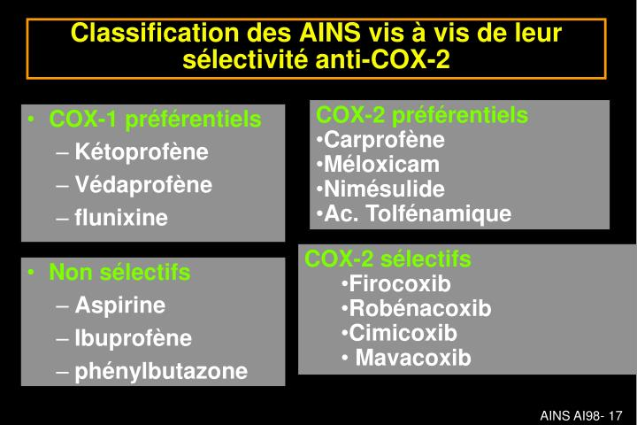 COX-1 préférentiels