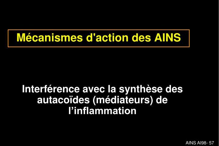 Mécanismes d'action des AINS