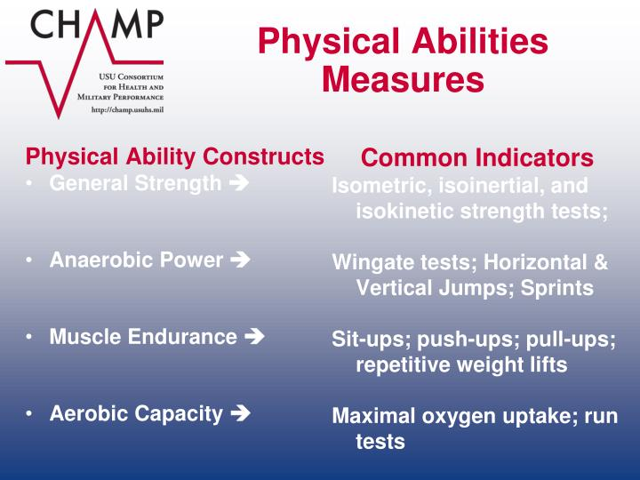 Physical Abilities Measures