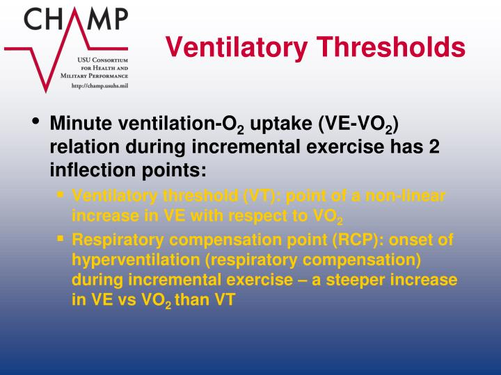 Ventilatory Thresholds