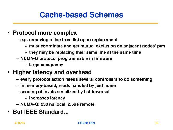 Cache-based Schemes