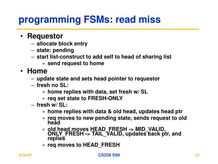 programming FSMs: read miss
