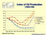 index of oil production 1989 100