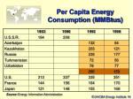 per capita energy consumption mmbtus