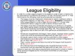 league eligibility