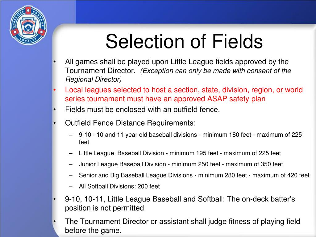 Selection of Fields