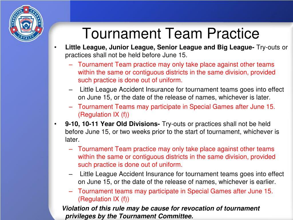 Tournament Team Practice