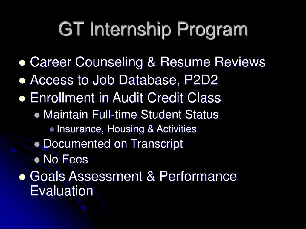 GT Internship Program