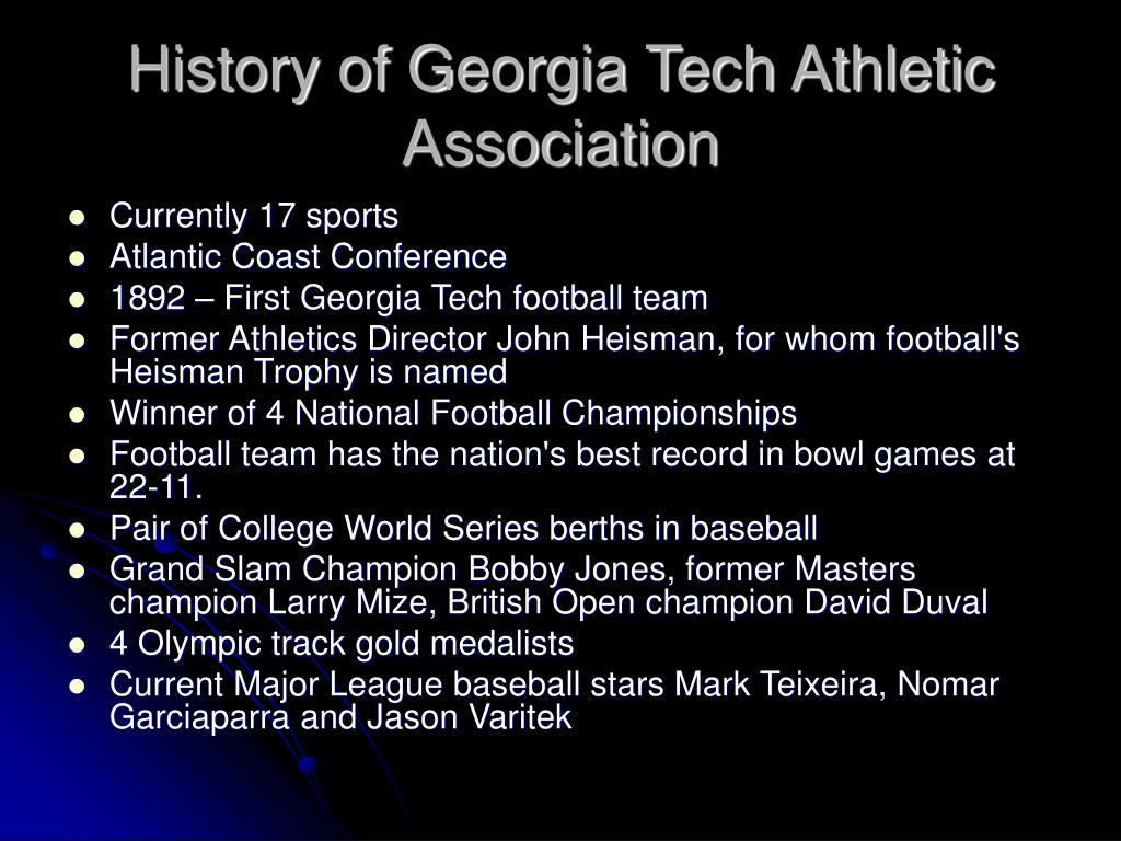 History of Georgia Tech Athletic Association