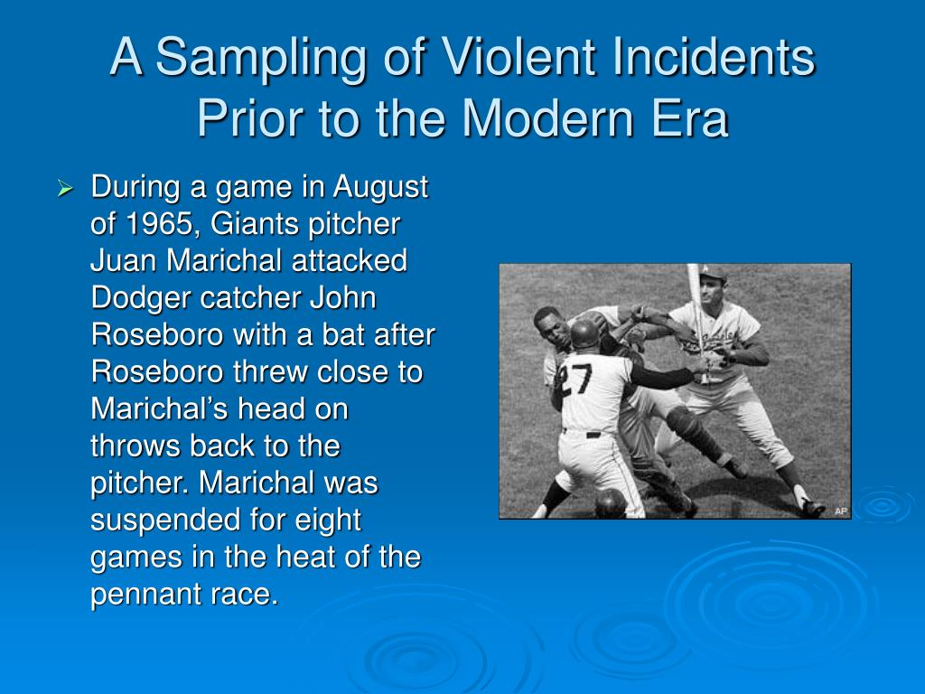 A Sampling of Violent Incidents Prior to the Modern Era