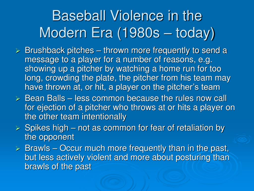 Baseball Violence in the