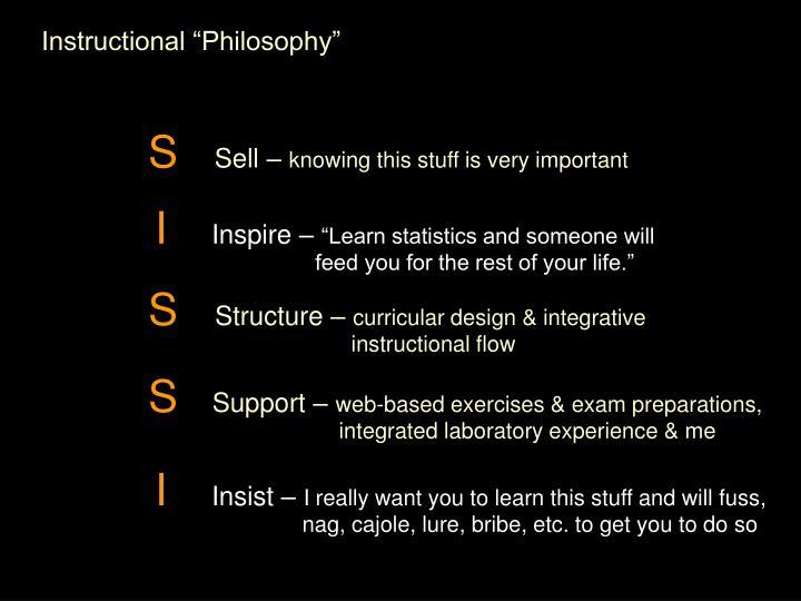 "Instructional ""Philosophy"""